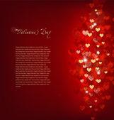 Röd bakgrund kärlek. vektor — Stockvektor
