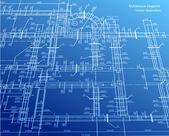 Arkitekturen blueprint bakgrund. vektor — Stockvektor