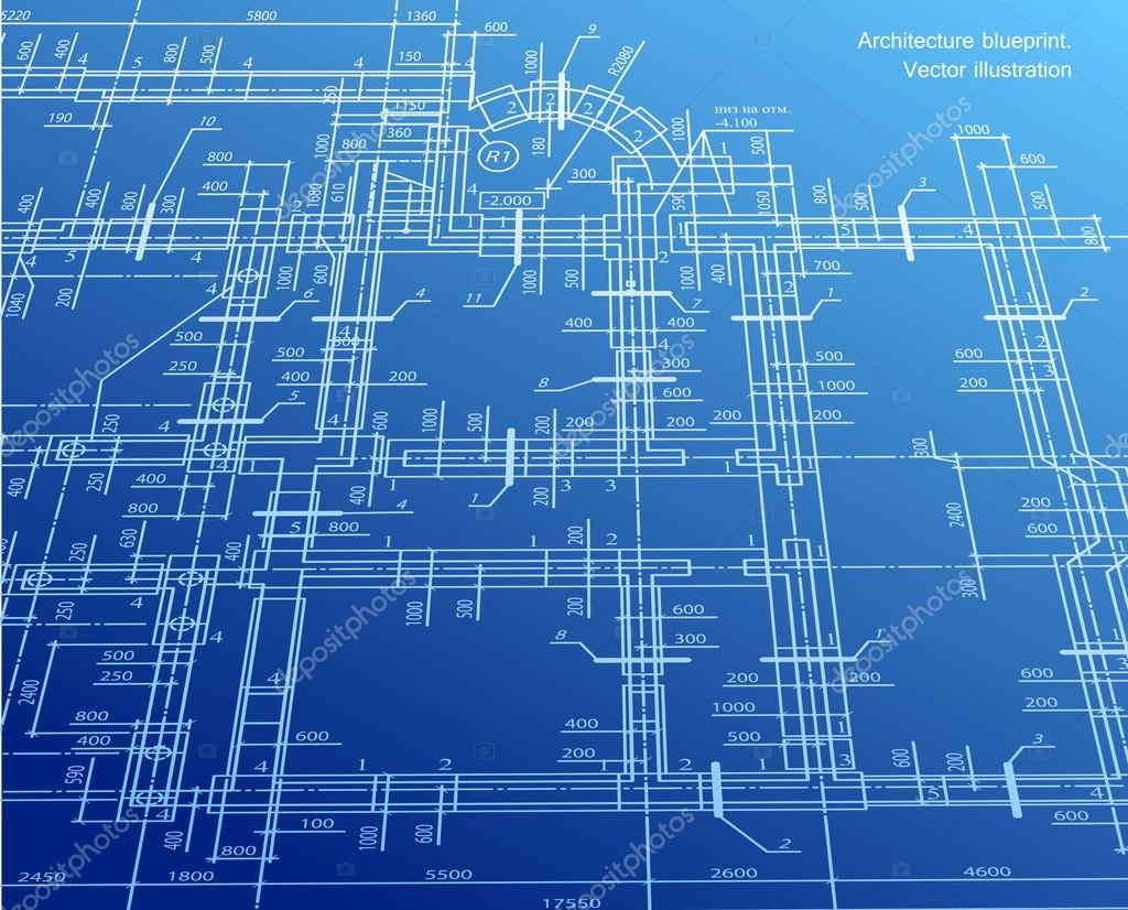 Architecture Blueprint Background Vector Stock Vector
