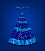 árbol de navidad azul. vector — Vector de stock