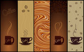 Set of coffee banners. Vector illustration — Stock Vector