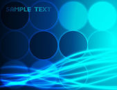 Abstract blue background. Vector — Stock vektor