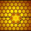 Honeycomb background. Vector — Stock Vector