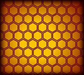 Honeycomb seamless pattern. Vector — Stock Vector