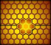 Honeycomb background. Vector — Stock Vector