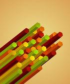 Abstract wallpaper of geometric columns. Vector — Stock Vector