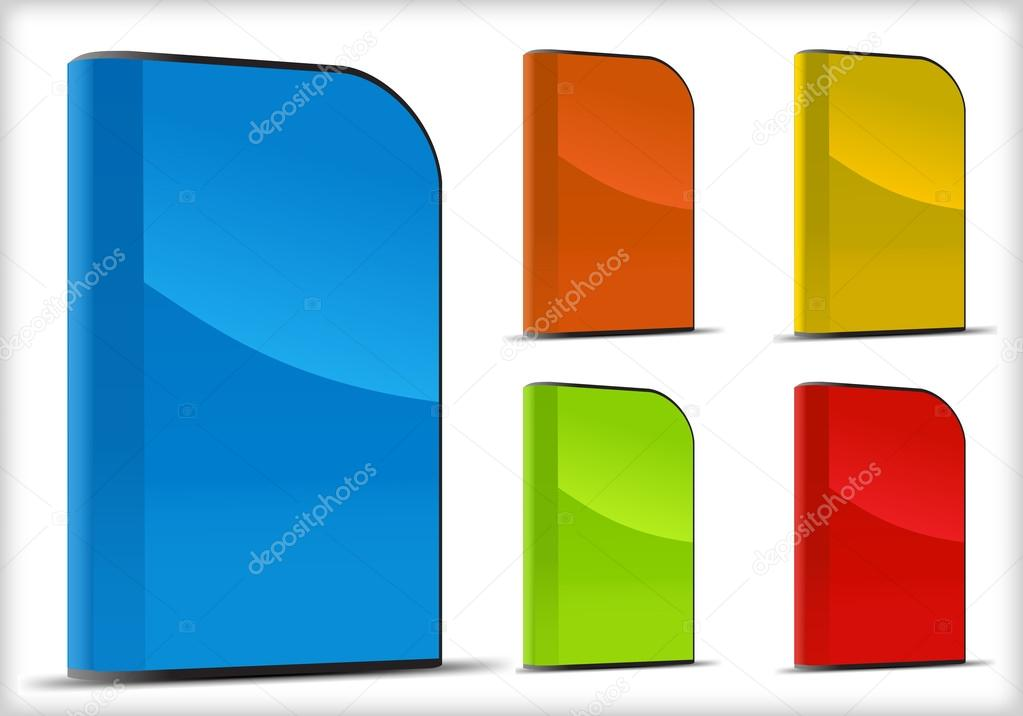 Set of software boxes. Vector illustration object — Stock Vector #13424944