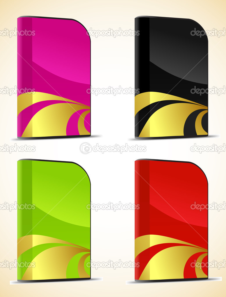 Set of software boxes. Vector illustration — Imagens vectoriais em stock #13425531