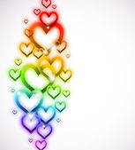Rainbow Heart with Sparkles on white. Vector — Stock vektor