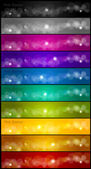 Set of colorful banners. Vector — Stock Vector