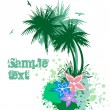 Royalty-Free Stock Vector Image: Palms with flowers. Vector
