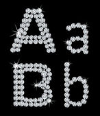 Set of diamond alphabetic letters . Vector — Vetorial Stock