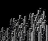 Ciudad de noche. vector — Vector de stock