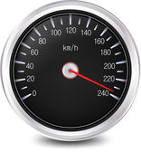 Automobile Speedometer. Vector — Stok Vektör