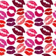 Vector seamless background with lips - ベクター素材ストック
