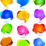 Vector transparent bubbles for speech — Stock Vector #17202899