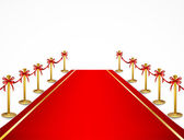 Red carpet and velvet rope. Vector — Stock Vector