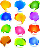 Vector transparent bubbles for speech — Stock Vector