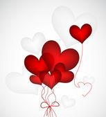 Heart Ballloons. Vector — Stock Vector