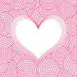 Seamless Swirl Pattern with heart. Vector - Stock Vector