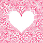 Seamless Swirl Pattern with heart. Vector — Stock Vector