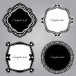 Frame Set ornamental. Vector - Stock Vector