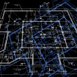 Blueprint abstract dark background. Vector — Stock vektor