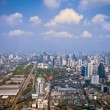 Modern city view of Bangkok, Thailand. Cityscape — Stock Photo #24853669