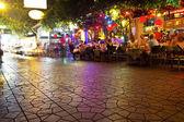 Decorative neon lights in street, Bangkok — Stock Photo