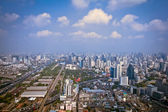 Modern city view of Bangkok, Thailand. Cityscape — Stock Photo
