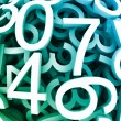 Set of digital numbers. Vector blue background — Vector de stock