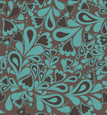 Floral seamless pattern in retro style. Vector — Stock Vector