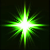 Light flare green effect. Vector — Vector de stock