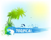 Tropical abstract background. Vector — Vettoriale Stock