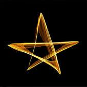 Abstrakt guld julstjärna. vektor — Stockvektor