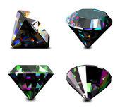 Set of jewelry gems. Vector — Stock Vector