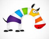 Colored striped zebra. Vector — Stock Vector
