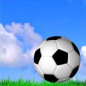 Soccer ball on the grass. Vector football — Cтоковый вектор