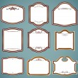 Set of ornate frames. Vector illustration — Stock Vector