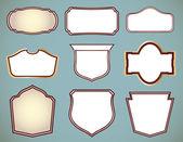 Set of ornate frames. Vector illustration — Stock Vector