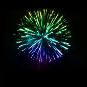 Fireworks in the night sky. Vector — Stock Vector