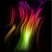 Colorful wavy abstract background for design — Stock Vector