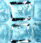 Blue ice cubes background. Vector — Stock Vector