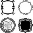 Frame Set ornamental. Vector — Stock Vector
