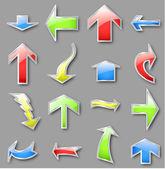 Olika pilar i olika färger. vektor — Stockvektor