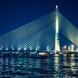 Bridge illuminated at night — Stock Photo
