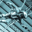 The astronaut under roof — Stock Photo #31895583