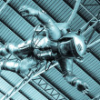 Stock Photo: The astronaut under roof