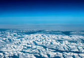Ice Mountains from airplane view — Stock Photo
