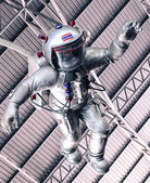 The astronaut under roof — Stock Photo